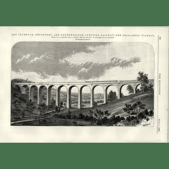 1890 Plymouth Devonport Railway Shillamill Viaduct  Rf Church Szlumper