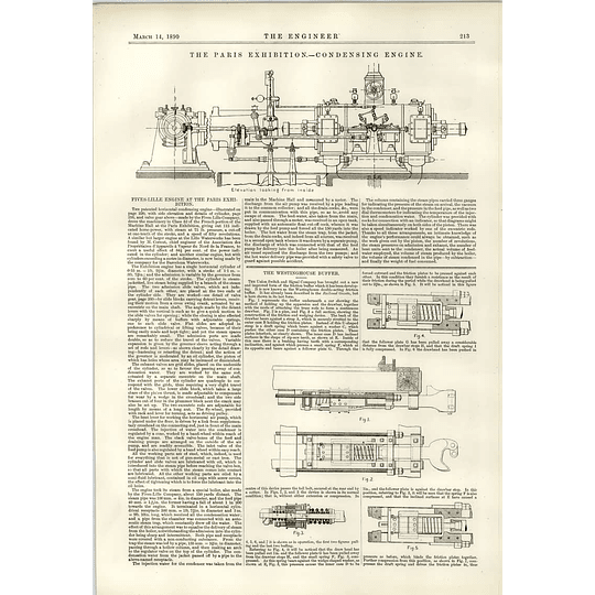 1890 Westinghouse Buffer Diagram Fives-lille Engine Hms Barracouta Accident