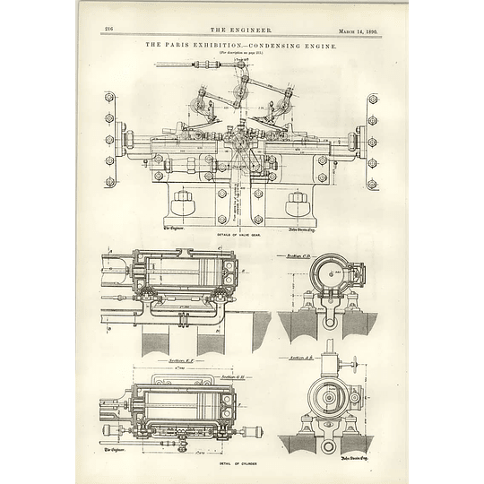 1890 Condensing Engine Diagram Fives-lille Detail