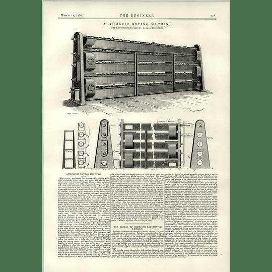 1890 Automatic Drying Machine New Conveyor Company London