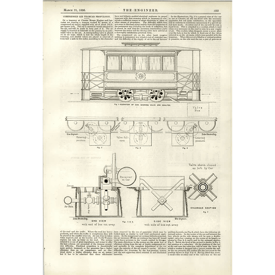 1890 Compressed Air Tramcar Propulsion Chester Hughes Lancaster