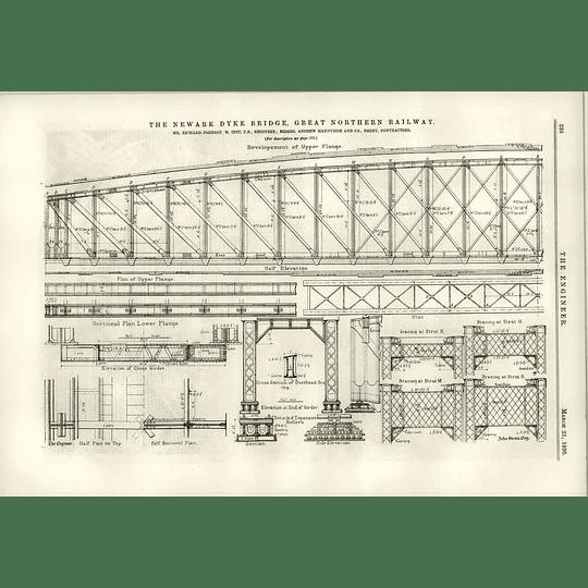1890 Newark Dyke Bridge Development Of Upper Flange Diagrams