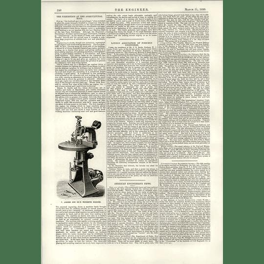 1890 E Jacobs Recessing Machine