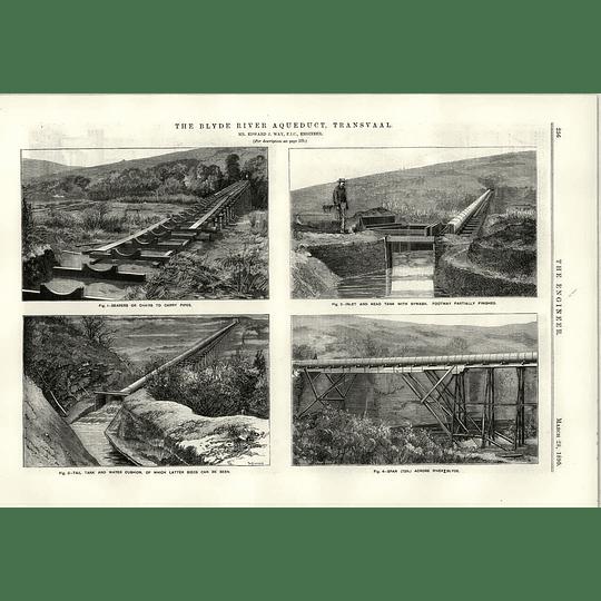 1890 The Blyde River Aqueduct Transvaal Edward J Way 75 Foot Span