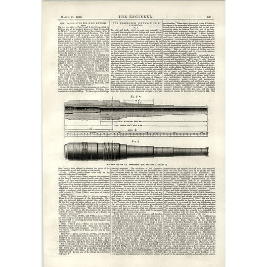 1890 110 Ton Guns For Hms Victoria Armstrong Pattern A