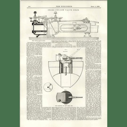 1890 Cross Cut-off Valve Gear New Elswick Gun Mounting
