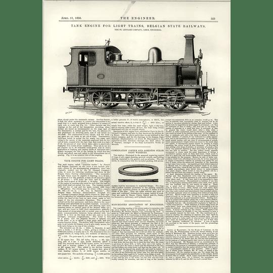 1890 Tank Engine Light Trains Belgian State Railways St Leonard Liege