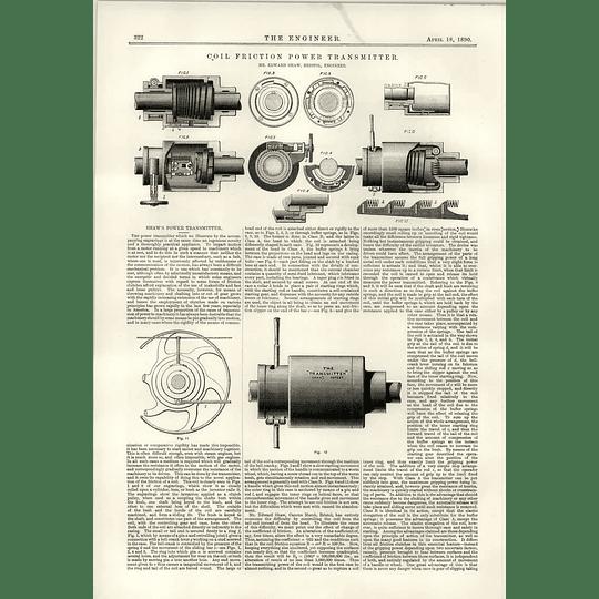 1890 Coyle Friction Powered Transmitter Edward Shaw Bristol