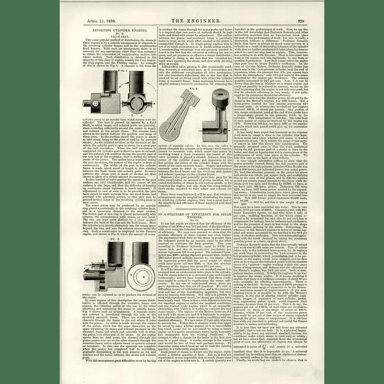 1890 Revolving Cylinder Engines Valve Gear Standards For Steam Engine Efficiency