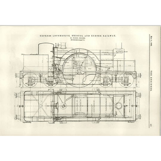 1890 Bristol Exeter Railway Pearson Express Locomotive More Details