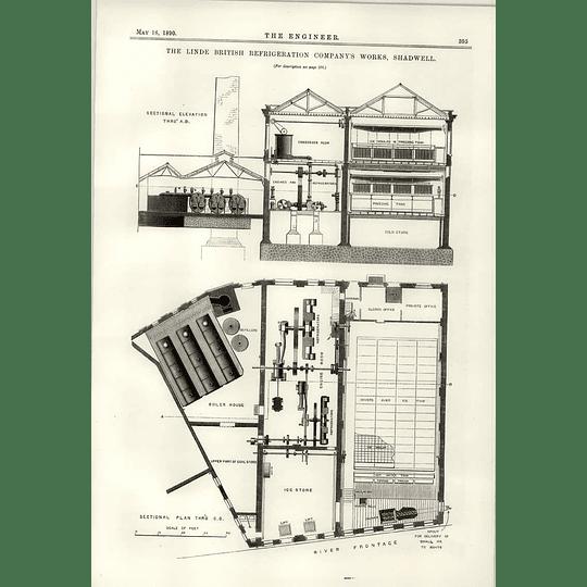 1890 Linde British Refrigeration Company Works Shadwell Plan