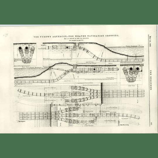 1890 Vyrnwy Aqueduct The Weaver Navigation Crossing