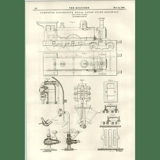 1890 Royal Saxon State Railway Compound Locomotive Herr Lindner