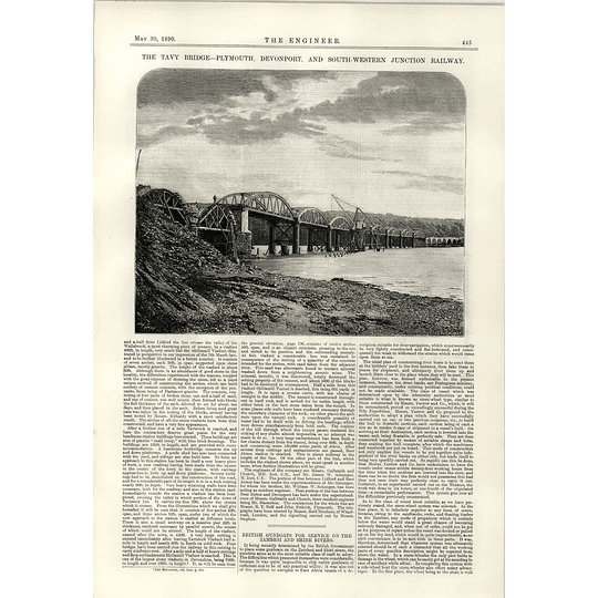 1890 Tavy Bridge Plymouth Devonport South Western Junction Railway