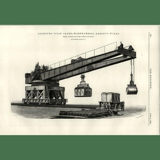 1890 Warrnambool Harbour All Around Titan Crane