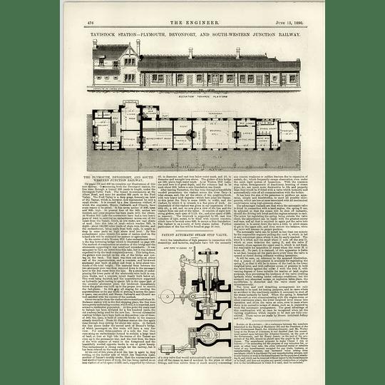 1890 Tavistock Station Room Plans Steam Stop Valve Archibald Jeffrey Alloa