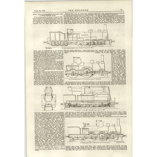 1890 40 Years Of Locomotive Building For A Great French Road