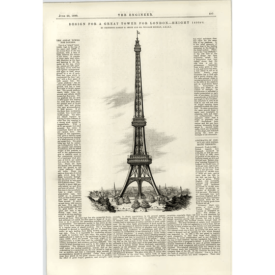 1890 Great Tower Of London Design Tripod Robert Smith William Henman
