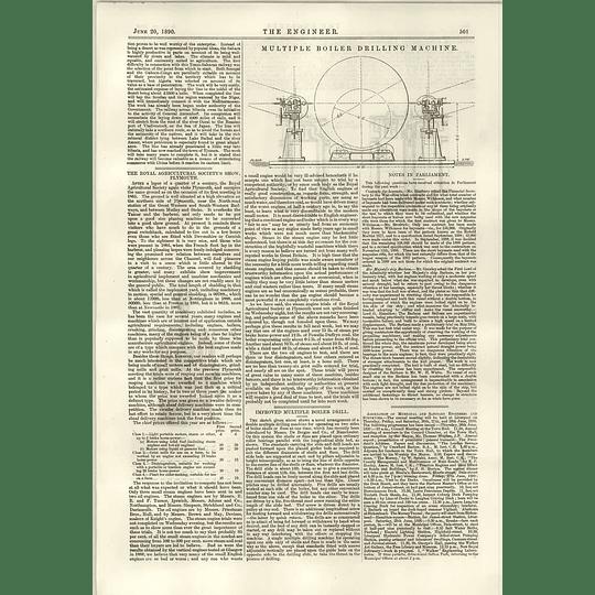 1890 Nobles Vertical Engine Kennedy Coleraine Empress Turbine