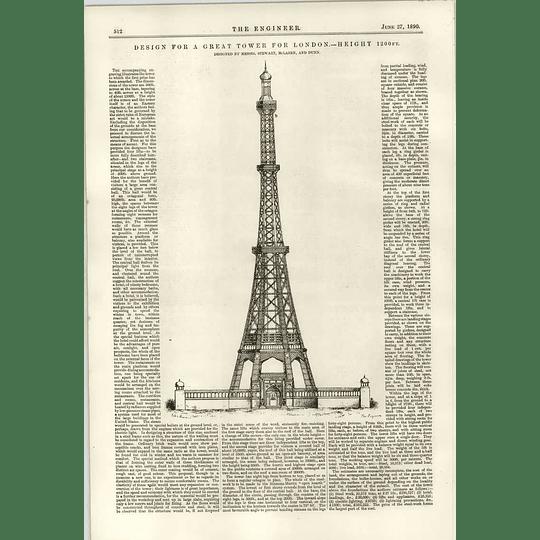 1890 Great Tower Design Competition Stewartt Maclaren Dunn