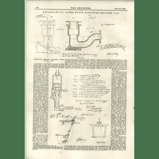 1890 Ss James Watt Compound Engines 1829 Lister Grinding Mill