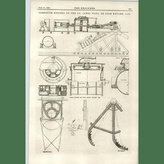 1890 Ss James Watt Stad Keulen 1829 Cylinder Engines