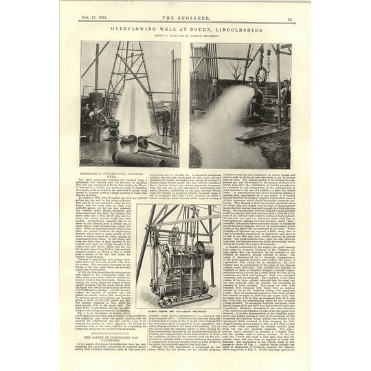 1894 Overflowing Well At Bourne Lincolnshire Strata Sections Isler Boring Percussion