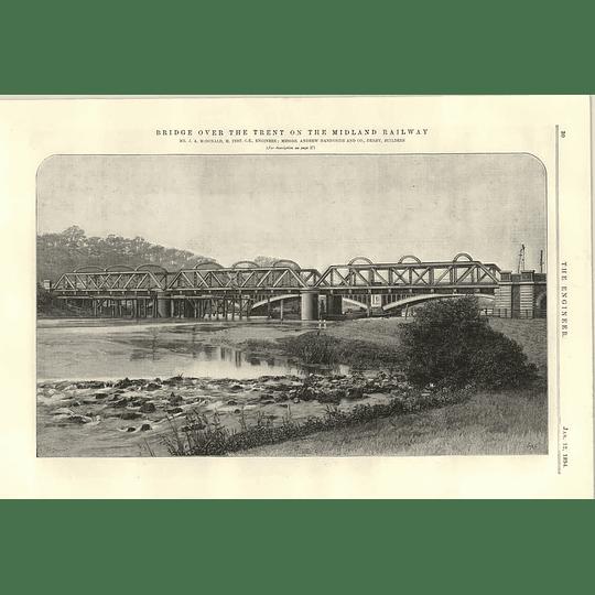 1894 Bridge Over The Trent On The Midland Railway Macdonald Handyside
