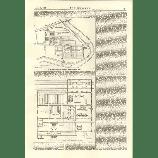 1894 Glasgow Sewage Disposal Works 2 Machinery Building