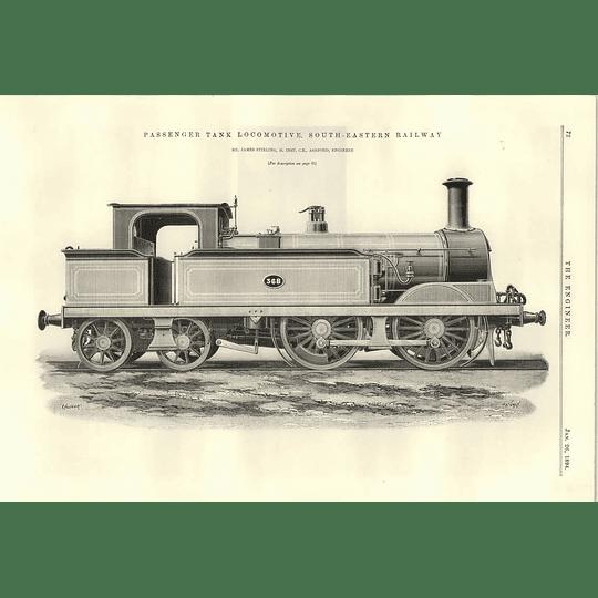 1894 Passenger Tank Locomotive South Eastern Railway Number 368