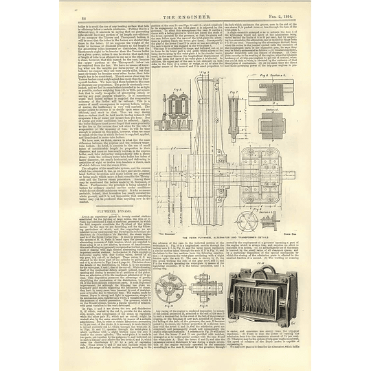1894 Flywheel Dynamo Alternator Transformer Patin