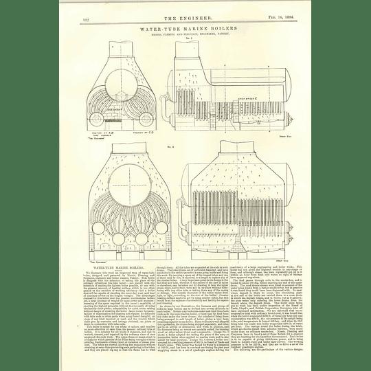 1894 Water Tube Marine Boilers Fleming Ferguson Paisley