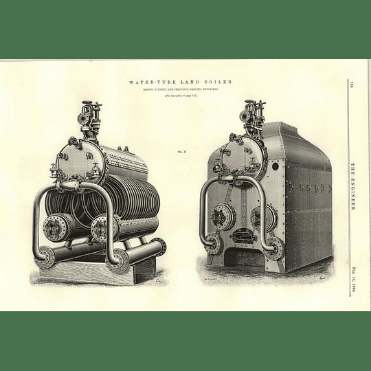 1894 Water Tube Land Boiler Fleming Ferguson Paisley