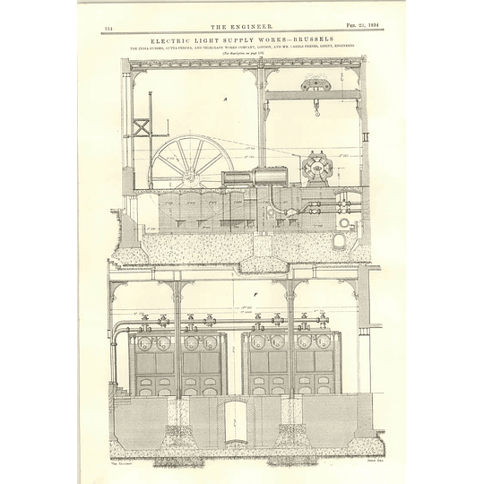 1894 Electric Light Supply Works Brussels More Plans Diagrams