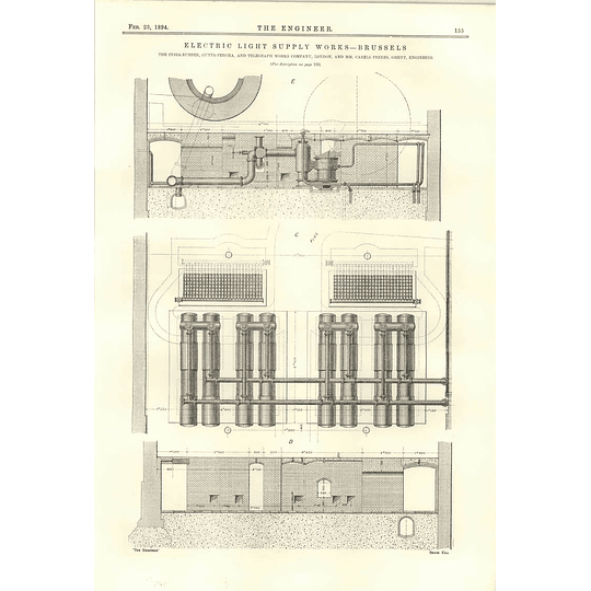 1894 Electric Light Supply Works Brussels More Plans Diagrams 2