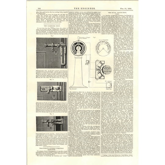 1894 Ground Plan Thorneycroft Chiswick Thackeray Audible Direction Indicator
