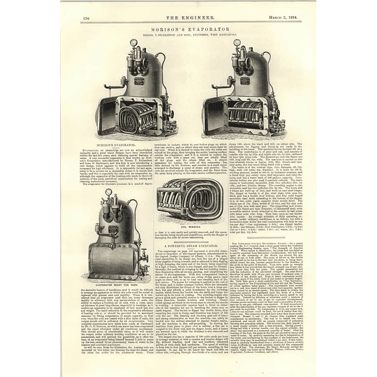 1894 Morisons Evaporator Richardson West Hartlepool Steam Excavator Osgood Dredge