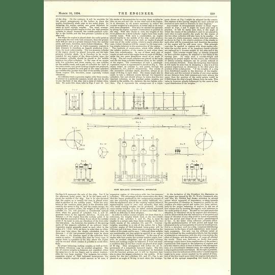 1894 Herr Schlick Experimental Apparatus Steamship Vibration