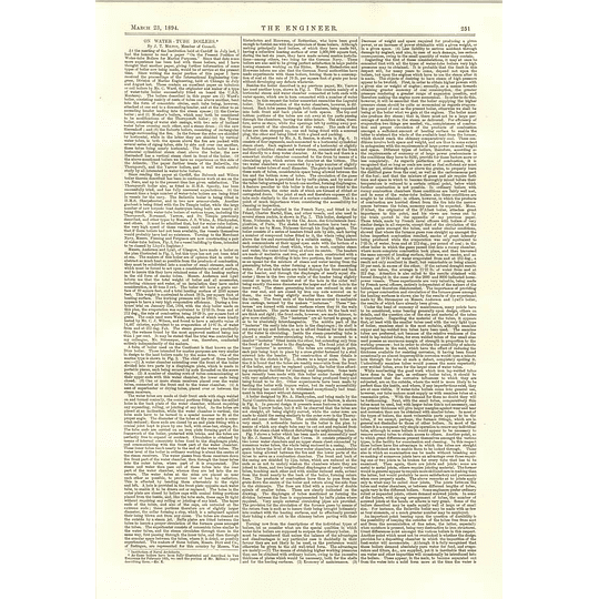 1894 Dissertation On Water Tube Boilers Jt Milton