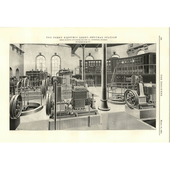 1894 The Derby Electric Light Central Station Bramwell Harris