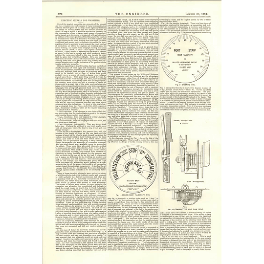 1894 Electric Signals For Warships Telegraph And Steering Dials