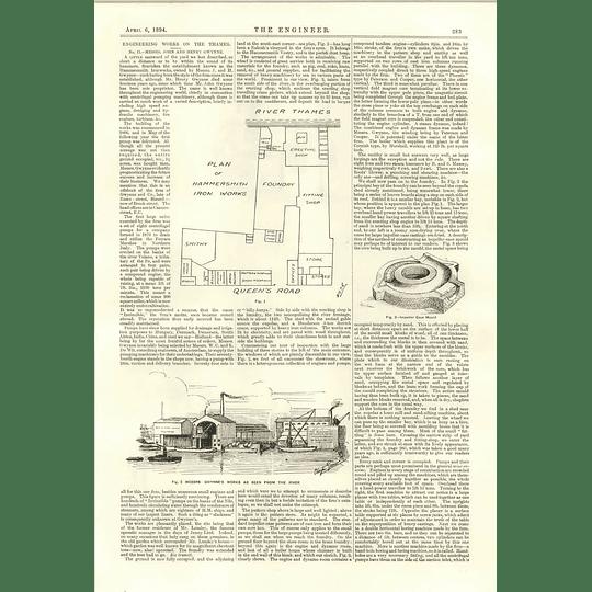1894 River Thames Engineering Works John Henry Gwynne