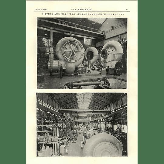 1894 Fitting And Erecting Shop Hammersmith Ironworks