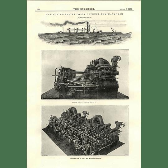 1894 United States Coast Defence Ram Katahdin