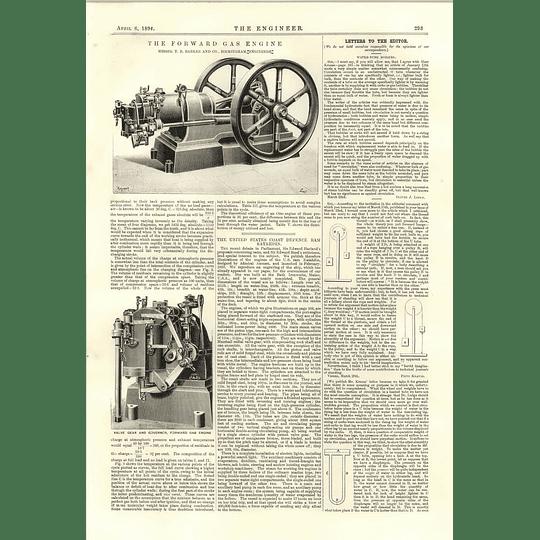 1894 Forward Gas Engine Barkere Birmingham Us Katahdin