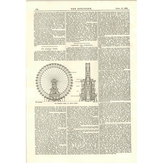 1894 The Gigantic Wheel And Recreation Tower Company Ferris Wheel Earls Court
