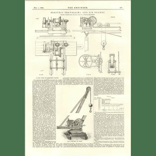 1894 Electric Travelling And Jib Cranes Joseph Tomlinson Self Adjusting Sandpipe Nozzle