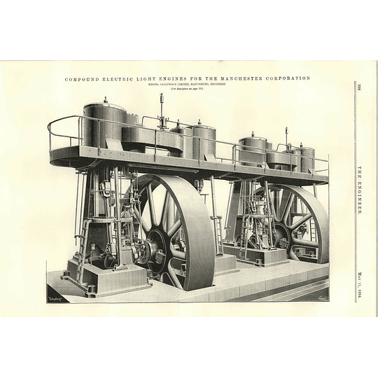 1894 Manchester Corporation Compound Electric Light Engines Testing Hydraulic Cement
