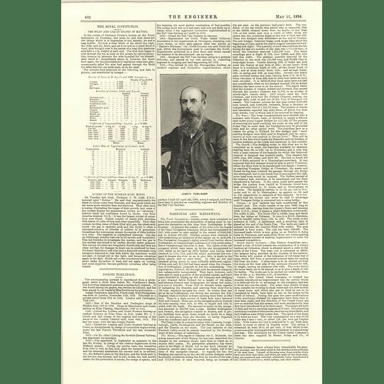 1894 Joseph Tomlinson Strikes For Mischief Shipbuilding Time