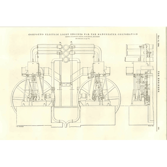 1894 Compound Electric Light Engines Manchester Corporation Method Of Erecting Wembley Tower